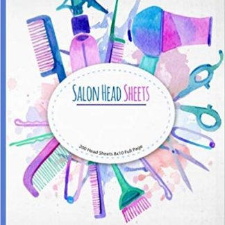 Salon Head Sheets: Watercolor Design Salon Tools 8x10 Full Page Head Sheets 200 pages